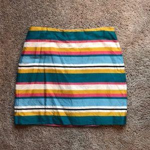 Loft multi-color mini skirt